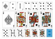 Poker size Spade playing cards plus reverse - 72505138