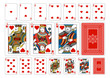 Poker size Heart playing cards plus reverse - 72505147