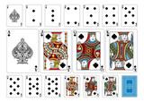 Poker size Spade playing cards plus reverse