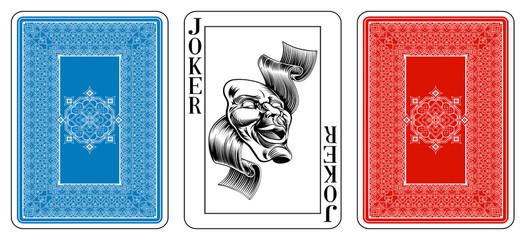 Poker size Joker playing card plus reverse