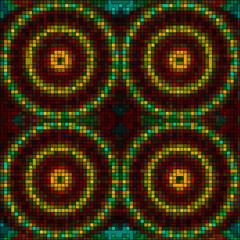 vector mosaic tiles mandalas background