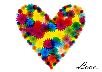 bright flowers heart