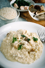 Risotto with porcini mushrooms