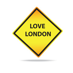 Vector Love London Sign