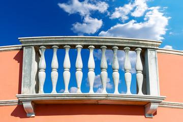 Balustrade Pillars on a Cloudy Sky