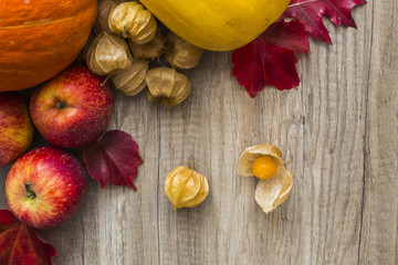 Autumn fruit and vegetables