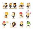 Office business people. Vector flat icon set