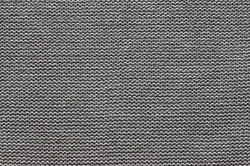 texture knitted fabric of black gray color