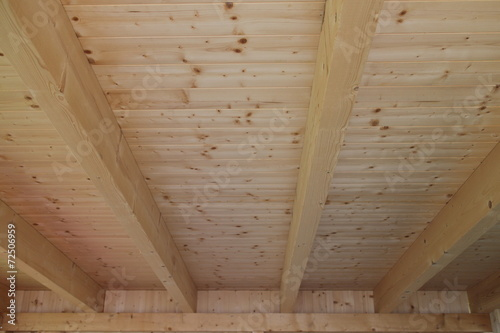 canvas print picture Holzdecke