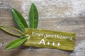 Energieeffizienzklasse A+++ Label
