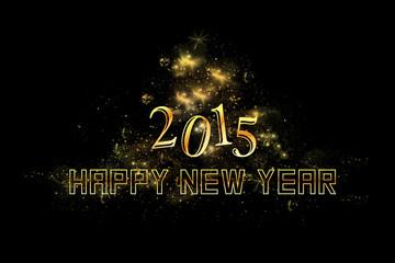 Sylvester 2015 Hintergrund mit goldener Schrift