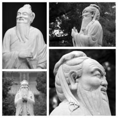 Confucius statues collage