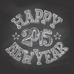 Happy New Year hand-lettering
