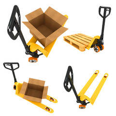 Shipment Concepts - Set of 3D Illustrations.