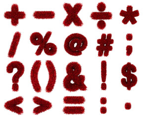 red grass symbols mathematics