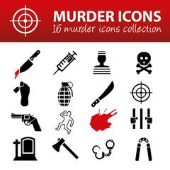 murder icons