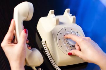 woman phone dialing
