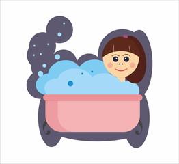 girl in a bath - SPA time