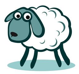 white cartoon sheep