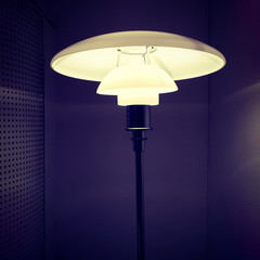 Stylish lamp in a dark room