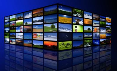 Bildschirm mit Bildern