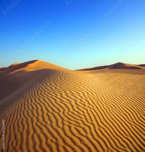 Fotobehang Woestijn evening desert landscape