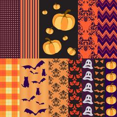 Halloween seamless patterns for scrapbooking