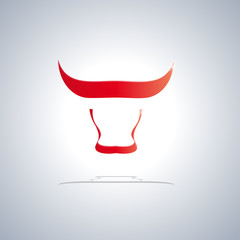 Vector logo Bull. Concept of strength and virility