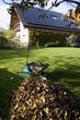 canvas print picture - Laubhaufen im Garten