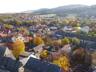 Panorama des herbstlichen Goslars
