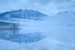 Karwendel Alps reflected in lake Barmsee