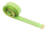 Measuring tape isolated on a white background poster