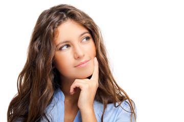 Beautiful woman having an idea