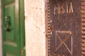 Cassetta della posta in metallo