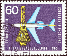 Airliner and Space Capsule (German Democratic Republic 1965)