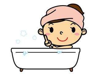 SD女性入浴指差し