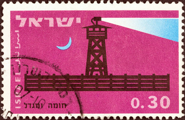 Completed stockade at night (Israel 1963)
