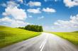 Leinwanddruck Bild - summer road