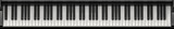 Piano keys panorama