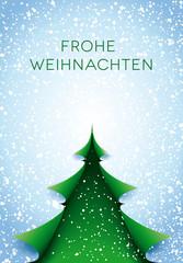 Grüner Baum Karte Frohe Weihnachten