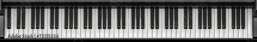 Leinwanddruck Bild Piano keys panorama