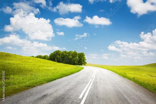 Leinwanddruck Bild summer road