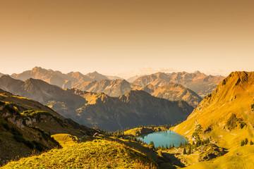 Berge und See im Allgäu