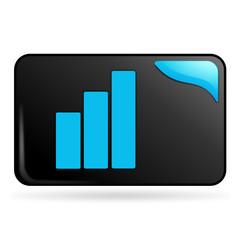graphique sur bouton web rectangle bleu