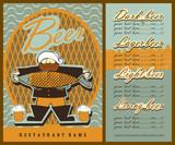 Vintage design menu for beer.