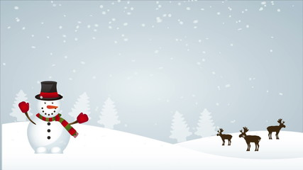 Snowman Animation, HD 1080
