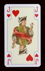 Spielkarten der Ladys - Herz Bube