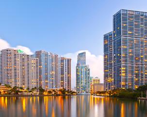 City of Miami Florida, night skyline