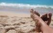 Woman's legs at beach