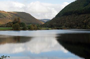 Lake at Cwm Rhiedhol Near Devils Bridge Wales